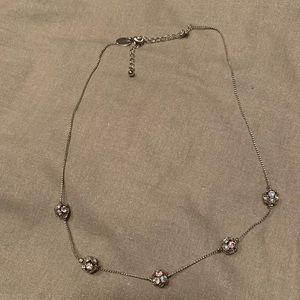 Lia Sophia Iridescent silver necklace